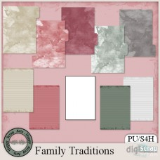 Family Traditions recipe sheets