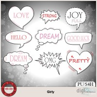 Girly word art