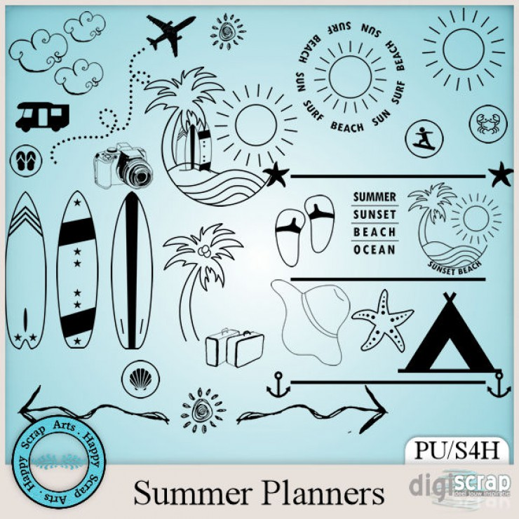 Summer Planners doodles