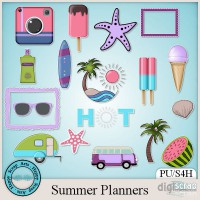 Summer Planners stickers