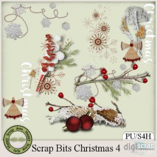 Scrap Bits Christmas 4 Clusters