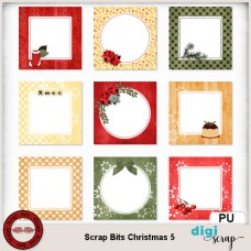 Scrap Bits Christmas 5 journal cards