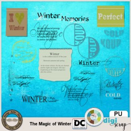 The Magic of Winter word art