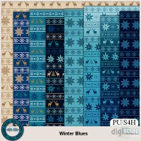 Winter Blues nordic papers