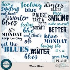 Winter Blues word art