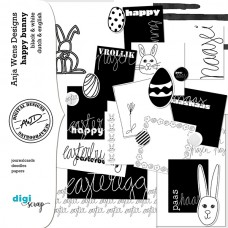Happy Bunny | Black&White