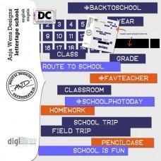 Lettertape School EN