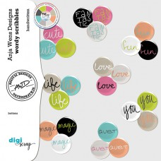 Wordy Scribbles | Buttons