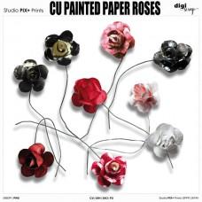 CU - Painted Paper Roses