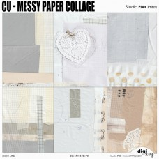 Messy Collage Papers - CU|PU