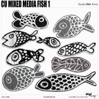 CU - Mix Media Fish 1