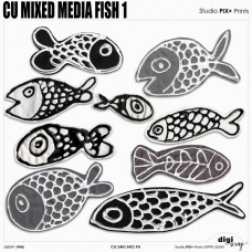 Mix Media Fish 1 - CU|PU