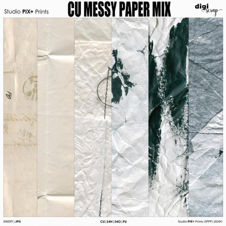 CU - Messy Paper Mix