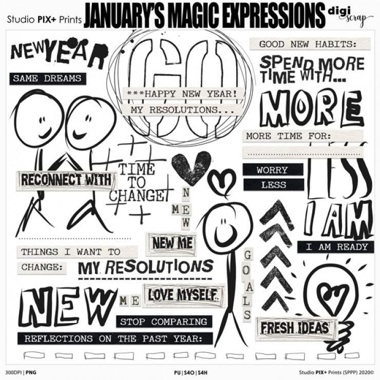 January's Magic Expressions - PU