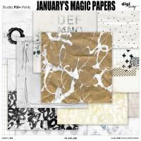 January's Magic Papers - PU