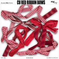 Red Ribbon Bows - CU|PU