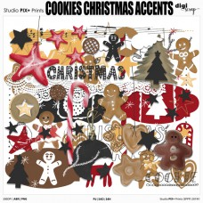 Cookies Christmas Accents - PU