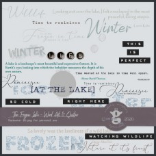 The Frozen Lake - Word Art&Quotes