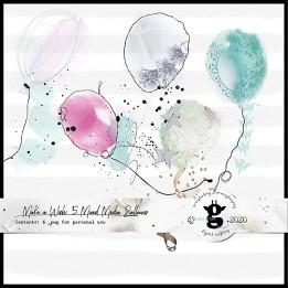 Make A Wish mixed media balloons