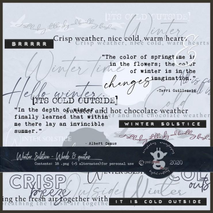 Winter Solstice [Word Art]