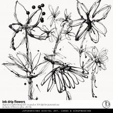 Ink Drip Flowers